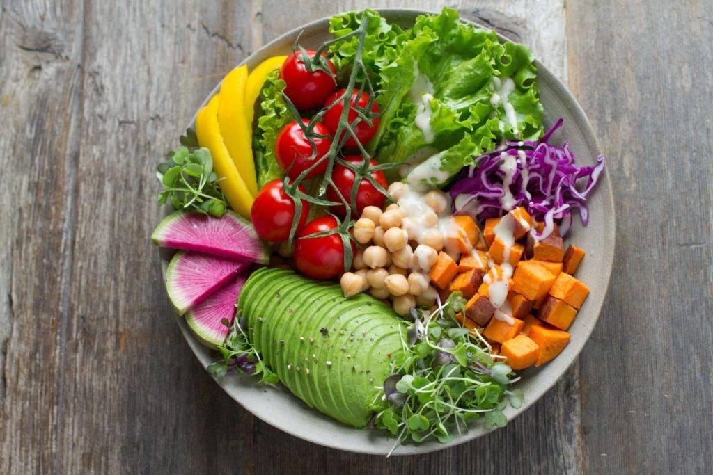 bowl of vegetable salads